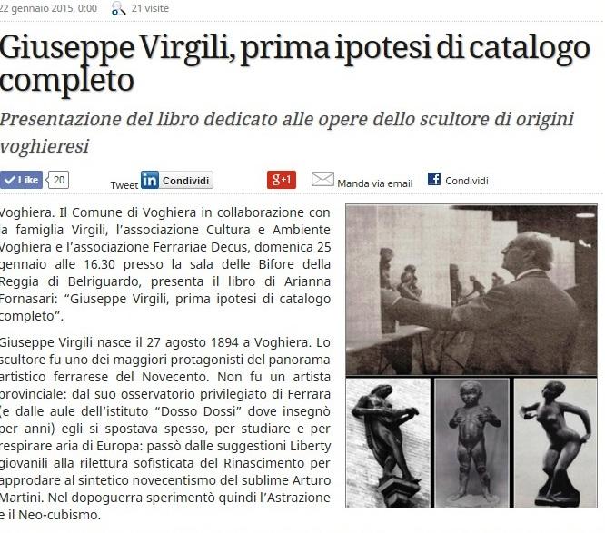 Giuseppe Virgili, prima ipotesi di catalogo completo - su estense.com